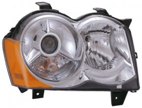 2008 -  2010 Jeep Grand Cherokee Front Headlight Assembly Replacement Housing / Lens / Cover - Right (Passenger) Side