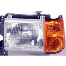 1987 - 1991 Ford F-150 Front Headlight Assembly Replacement Housing / Lens / Cover - Left (Driver) Side