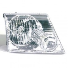 2002 - 2005 Ford Explorer Front Headlight Assembly Replacement Housing / Lens / Cover - Right (Passenger) Side - (Eddie Bauer + Limited + NBX + Postal + XLS + XLT)