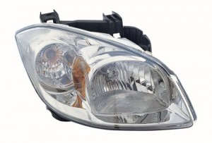 2005 -  2010 Chevrolet Cobalt Front Headlight Assembly Replacement Housing / Lens / Cover - Right (Passenger) Side - (Base Model + LS + LT + LT Team Canada + SS 2.0L L4 + Sport)