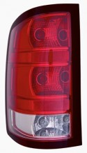 2009 - 2013 GMC Sierra 1500 Rear Tail Light Assembly Replacement / Lens / Cover - Left (Driver) Side - (Hybrid Gas Hybrid + Flex Hybrid + SL)