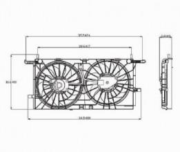 2005 2006 pontiac montana engine radiator cooling fan. Black Bedroom Furniture Sets. Home Design Ideas