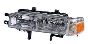 1990 - 1991 Honda Accord Front Headlight Assembly Replacement Housing / Lens / Cover - Left (Driver) Side