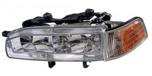 1992 -  1993 Honda Accord Front Headlight Assembly Replacement Housing / Lens / Cover - Left (Driver) Side