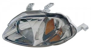1999 -  2000 Honda Civic Front Headlight Assembly Replacement Housing / Lens / Cover - Left (Driver) Side