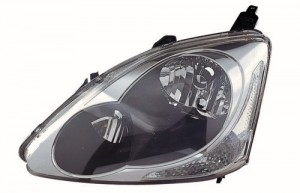 2004 - 2005 Honda Civic Front Headlight Assembly Replacement Housing / Lens / Cover - Left (Driver) Side - (3 Door; Hatchback)