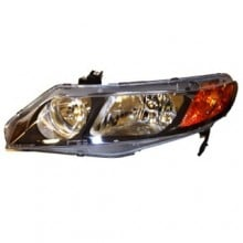 2006 -  2008 Honda Civic Front Headlight Assembly Replacement Housing / Lens / Cover - Left (Driver) Side - (4 Door; Sedan)
