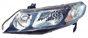 2006 -  2011 Honda Civic Front Headlight Assembly Replacement Housing / Lens / Cover - Left (Driver) Side - (Sedan + Gas Hybrid + Hybrid Gas Hybrid)