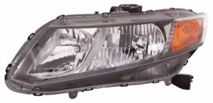 2012 - 2012 Honda Civic Front Headlight Assembly Replacement Housing / Lens / Cover - Left (Driver) Side - (Sedan + Coupe)