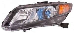 2012 Honda Civic Front Headlight Assembly Replacement Housing / Lens / Cover - Left (Driver) Side - (Gas Hybrid)