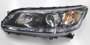 2013 -  2014 Honda Accord Front Headlight Assembly Replacement Housing / Lens / Cover - Left (Driver) Side - (EX-L 3.5L V6 Sedan + Touring 3.5L V6 Sedan)