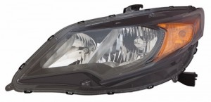 2014 - 2015 Honda Civic Front Headlight Assembly Replacement Housing / Lens / Cover - Left (Driver) Side - (Coupe)