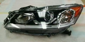 2016 Honda Accord Headlight Assembly - Left (Driver) Side - (EX Sedan + EX-L Sedan + Sport Sedan) Replacement