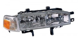 1990 -  1991 Honda Accord Front Headlight Assembly Replacement Housing / Lens / Cover - Right (Passenger) Side