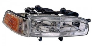 1992 - 1993 Honda Accord Front Headlight Assembly Replacement Housing / Lens / Cover - Right (Passenger) Side
