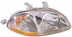 1996 -  1998 Honda Civic Front Headlight Assembly Replacement Housing / Lens / Cover - Right (Passenger) Side