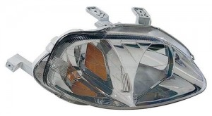 1999 - 2000 Honda Civic Front Headlight Assembly Replacement Housing / Lens / Cover - Right (Passenger) Side