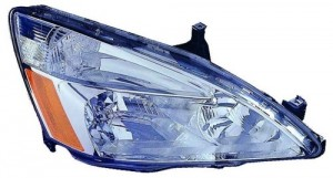 2003 - 2007 Honda Accord Front Headlight Assembly Replacement Housing / Lens / Cover - Right (Passenger) Side - (Hybrid Gas Hybrid)