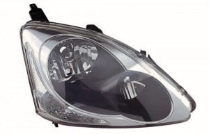 2004 -  2005 Honda Civic Front Headlight Assembly Replacement Housing / Lens / Cover - Right (Passenger) Side - (3 Door; Hatchback)