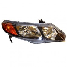 2006 -  2008 Honda Civic Front Headlight Assembly Replacement Housing / Lens / Cover - Right (Passenger) Side - (4 Door; Sedan)