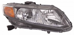 2012 Honda Civic Front Headlight Assembly Replacement Housing / Lens / Cover - Right (Passenger) Side - (Sedan + Coupe)