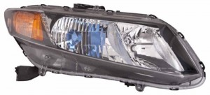 2012 - 2012 Honda Civic Front Headlight Assembly Replacement Housing / Lens / Cover - Right (Passenger) Side - (Gas Hybrid)