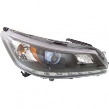 2014 - 2015 Honda Accord Front Headlight Assembly Replacement Housing / Lens / Cover - Right (Passenger) Side - (Gas Hybrid)