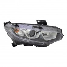 2016 - 2020 Honda Civic Headlight Assembly - Right (Passenger) Side - (EX + EX-L + EX-T + LX + LX-P) Replacement