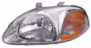 1996 - 1998 Honda Civic Front Headlight Assembly Replacement Housing / Lens / Cover - Left (Driver) Side