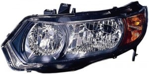 2006 - 2007 Honda Civic Front Headlight Assembly Replacement Housing / Lens / Cover - Left (Driver) Side - (2 Door; Coupe)