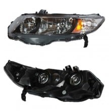 2010 - 2011 Honda Civic Front Headlight Assembly Replacement Housing / Lens / Cover - Left (Driver) Side - (Coupe; Automatic Transmission + Coupe; Manual Transmission; 5 Speed Transmission + Coupe; Automatic CVT Transmission)