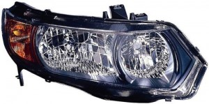 2006 -  2007 Honda Civic Front Headlight Assembly Replacement Housing / Lens / Cover - Right (Passenger) Side - (2 Door; Coupe)