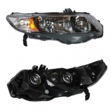 2010 -  2011 Honda Civic Front Headlight Assembly Replacement Housing / Lens / Cover - Right (Passenger) Side - (Coupe; Automatic Transmission + Coupe; Manual Transmission; 5 Speed Transmission + Coupe; Automatic CVT Transmission)