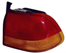 1996 -  1998 Honda Civic Rear Tail Light Assembly Replacement / Lens / Cover - Left (Driver) Side - (4 Door; Sedan)