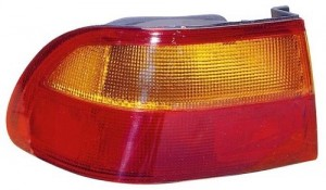 1992 -  1995 Honda Civic Rear Tail Light Assembly Replacement / Lens / Cover - Left (Driver) Side - (4 Door; Sedan + 2 Door; Coupe)
