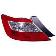 2006 - 2008 Honda Civic Rear Tail Light Assembly Replacement / Lens / Cover - Left (Driver) Side - (2 Door; Coupe)