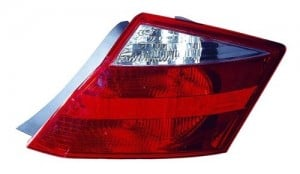 2008 - 2010 Honda Accord Rear Tail Light Assembly Replacement / Lens / Cover - Left (Driver) Side - (2 Door; Coupe)