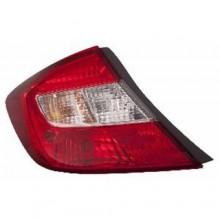 2012 - 2012 Honda Civic Rear Tail Light Assembly Replacement / Lens / Cover - Left (Driver) Side - (Sedan)