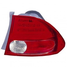 2006 -  2008 Honda Civic Rear Tail Light Assembly Replacement / Lens / Cover - Right (Passenger) Side - (4 Door; Sedan + Hybrid 4 Door; Sedan; Gas Hybrid)