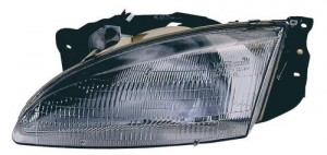 1996 - 1998 Hyundai Elantra Front Headlight Assembly Replacement Housing / Lens / Cover - Left (Driver) Side
