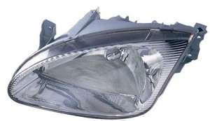 1999 Hyundai Elantra Front Headlight Assembly Replacement Housing / Lens / Cover - Left (Driver) Side