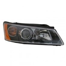 2006 - 2008 Hyundai Sonata Front Headlight Assembly Replacement Housing / Lens / Cover - Left (Driver) Side