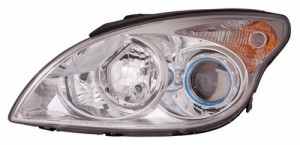 2009 Hyundai Elantra Front Headlight Assembly Replacement Housing / Lens / Cover - Left (Driver) Side - (Hatchback)