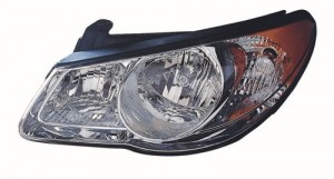 2010 - 2010 Hyundai Elantra Front Headlight Assembly Replacement Housing / Lens / Cover - Left (Driver) Side - (Sedan)