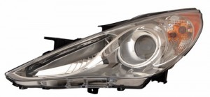 2011 -  2014 Hyundai Sonata Front Headlight Assembly Replacement Housing / Lens / Cover - Left (Driver) Side - (2.0T Limited + Hybrid Limited + Limited + SE)