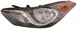 2011 -  2013 Hyundai Elantra Front Headlight Assembly Replacement Housing / Lens / Cover - Left (Driver) Side - (Sedan)