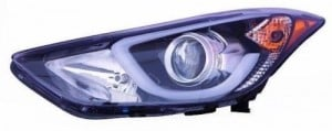 2014 -  2016 Hyundai Elantra Headlight Assembly (NSF Certified) - Left (Driver) Side Replacement