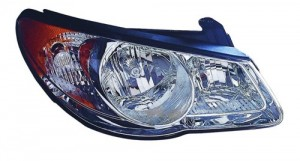 2010 Hyundai Elantra Front Headlight Assembly Replacement Housing / Lens / Cover - Right (Passenger) Side - (Sedan)