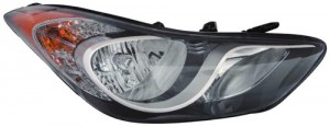 2011 - 2014 Hyundai Elantra Front Headlight Assembly Replacement Housing / Lens / Cover - Right (Passenger) Side - (Sedan)