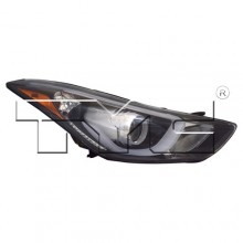 2014 - 2016 Hyundai Elantra Front Headlight Assembly Replacement Housing / Lens / Cover - Right (Passenger) Side